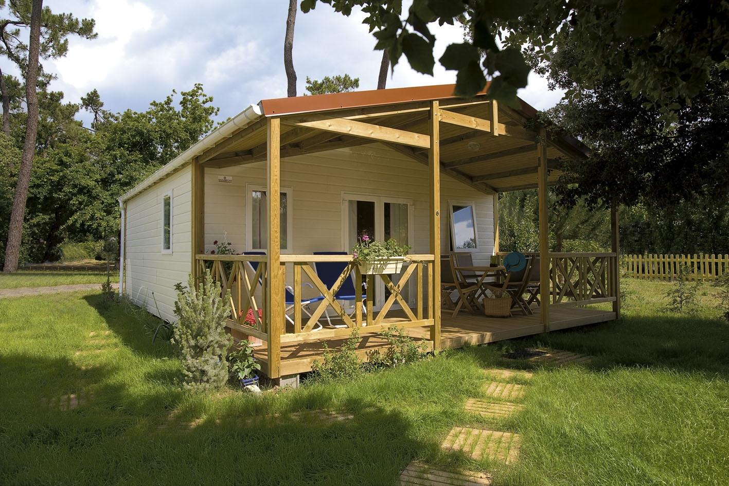Chalet Sésame Confort  Camping oléron  Location campin ~ Camping Le Sous Bois Oleron